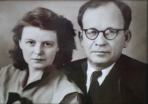 Лев Александрович Мясников с женой Евгенией Николаевной