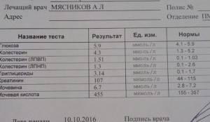Мясников. Результаты анализа. Октябрь 2016